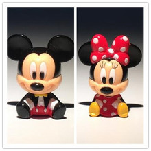60pcs 3cm original baby mickey mouse minnie mouse PVC Action Figures toys mickey mouse subminiature collection toys(China)