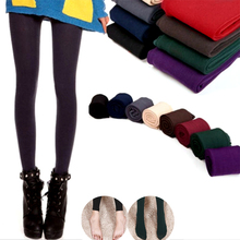 Hot Sale 1PC Casual Fall Spring Winter Multicolor Women Stretch Thick lined Fleece Leggings Clothing Accessories(China)