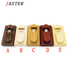 JASTER customer LOGO Creative Wooden usb with Box pen drive 8GB 16gb 32gb Usb Flash Drive Memory Stick photography wedding Gift