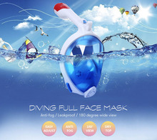 PIKOBELLO Underwater Scuba Diving Mask Snorkeling Set Foldable Top Dry Snorkel Full Face Anti Fog Mask