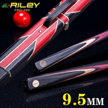 Import RILEY Snooker cue, Custom cue ,145cm, cue tip 9.5mm, Ash wood shaft , 3/4 handmade billiard cue,Brand Billiards Stick(China)