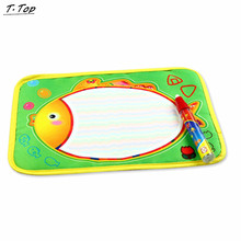 19*29cm Colorful Fish design Water Doodle Drawing board Baby play Water mat Toys With Magic Pen(China)