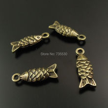 60PCS Antiqued Bronze Vintage Alloy Vivid Fish Pendant Hanging Charms Jewelry Accesssory 38096
