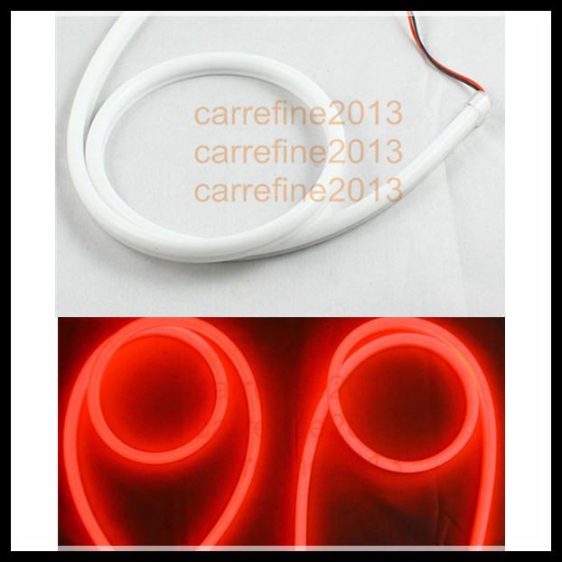 2*85cm red flexible led drl strip waterproof IP65 led daytime running light headlight switchback strip<br>