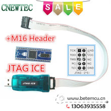 1LOT=1PCS AVR USB Emulator debugger programmer JTAG ICE for Atmel +1PCS ATMEGA16 JTAG simulation head(China)