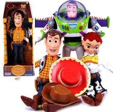 43 cm juguete historia 3 hablando Woody Jessie hablar de acción Buzz  Lightyear juguete modelo juguetes de peluche muñeca de los . 6b4f06356c9