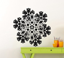 Beautiful Snowflake Wall Decal Frozen Winter New Year Christmas Vinyl Sticker Home Interior Decoration Family Art Mural