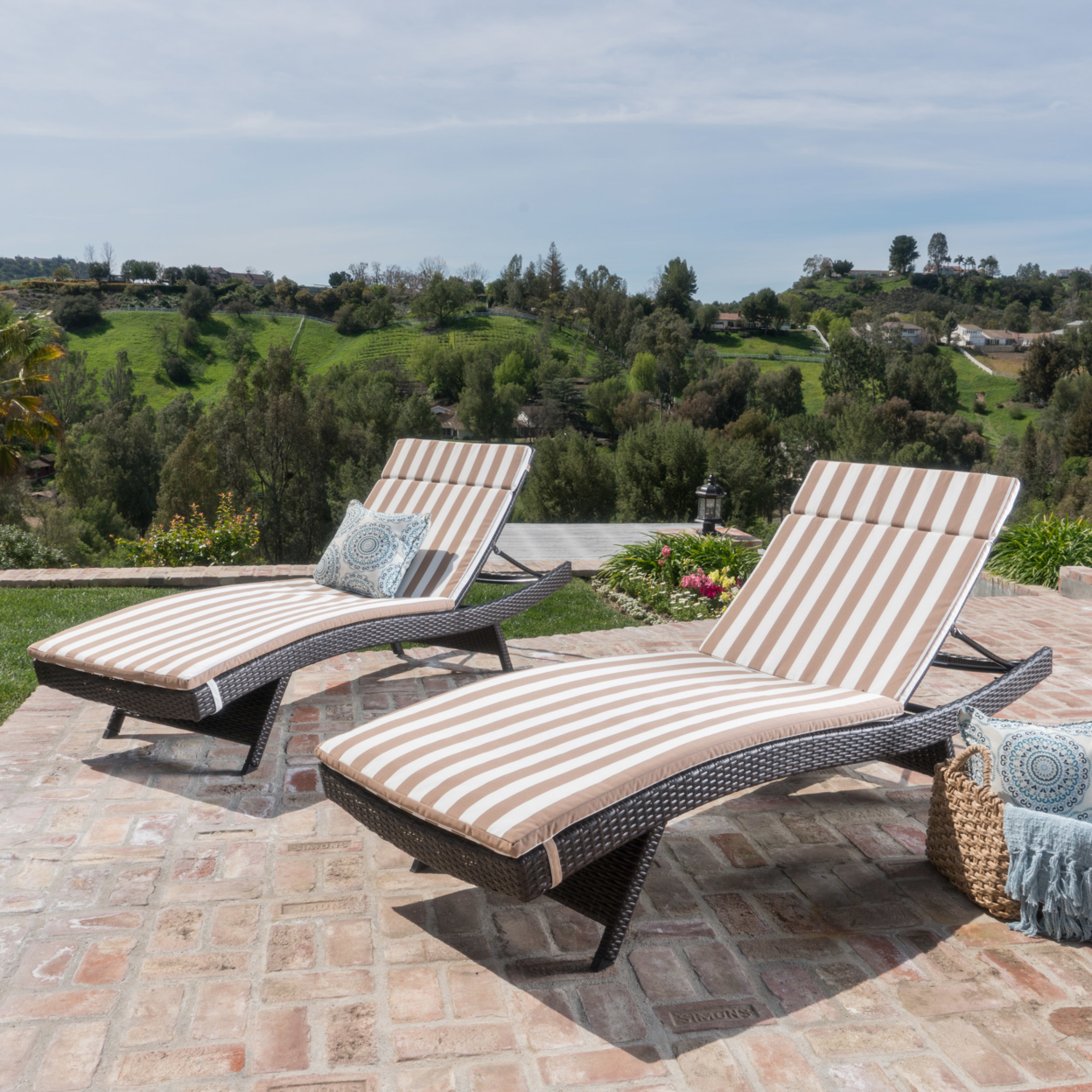 Lakeport Outdoor Water Resistant Chaise Lounge Cushions (Set of 2)