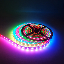 1M 5M WS2812B led strip 30/60/96/144leds DC5V dearm color pixel strip Black White PCB WS2812 IC multi model fast ship UR