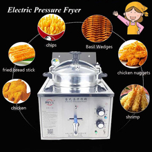 16L Electric Pressure Fryer Steel Commercial Cooking Machine Chicken Duck Fish Meat Vegetable Chips Frying Machine MDXZ-16(China)