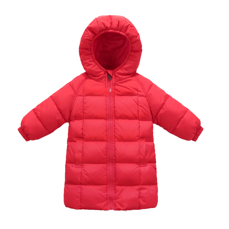 2017 winter childrens mid lenghth down jackets coats solid cotton padded trench coats girls warm outerwear snowsuit parkas<br>