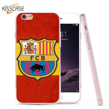 KISSCASE FCB FC BARCELONA Football Fans Case For iPhone 7 6 6s Plus 5 5C SE Cover For Samsung S6 S7 Edge For HUAWEI P8 P9 Lite