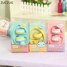 ZUCZUG HOT Birthday Gifts Cute Headphones Candy Color Foldable Kids Headset Earphone for Mp3 Smartphone Girl Children PC Laptop(China)