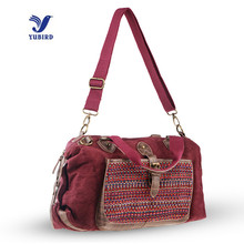 YUBIRD Brand 2017 Women PU Leather Fabric Handbags Lady Vintage Designer Cross Body for Women Shoulder Bag Linen Casual Tote Bag