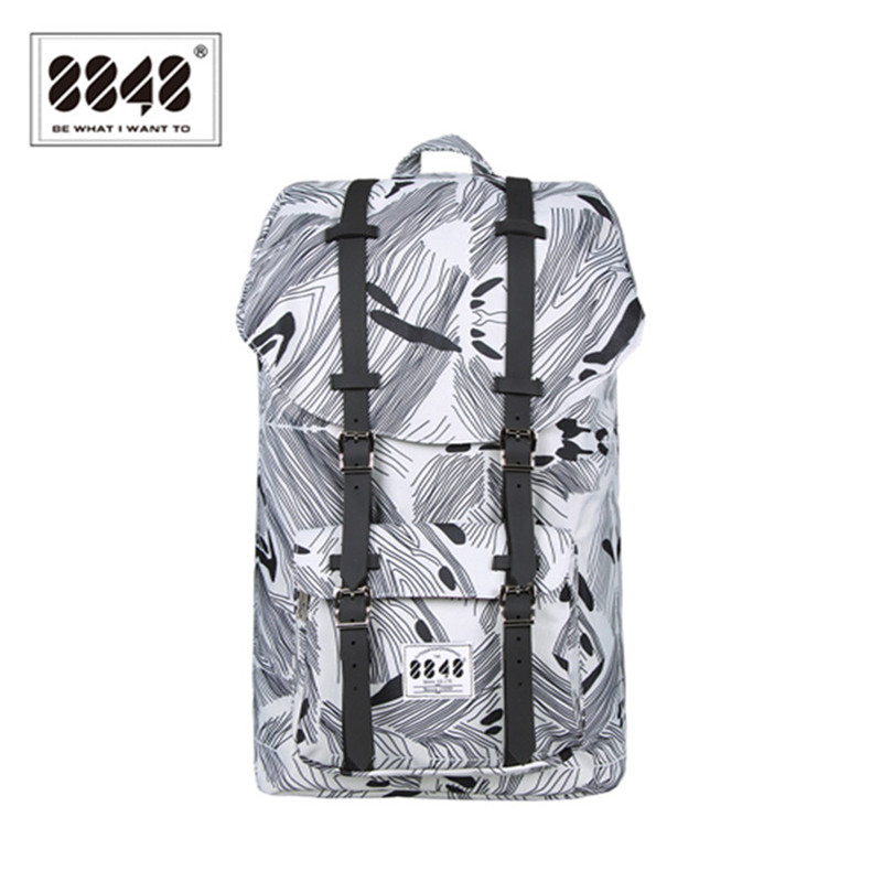 8848 Brand 2016 New Cool Designer Large Military Men Backpack For Great Fashion Wool Printing Backpack Travel Backpack C057-8<br>