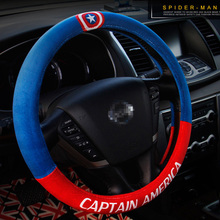 Winter Plush Steering Wheel Cover Cartoon Cute Auto Car Steering Wheel Covers Fur Steering-Wheel Accessories Cases Hello Kitty