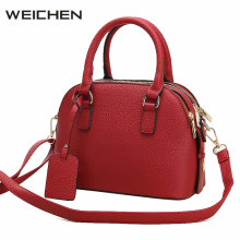 Women Leather Handbags Red Cross Body Bags Women 2017 Sac A Main Femme De Marque Soldes Female Shoulder Shell Bag Ladies Handbag(China)