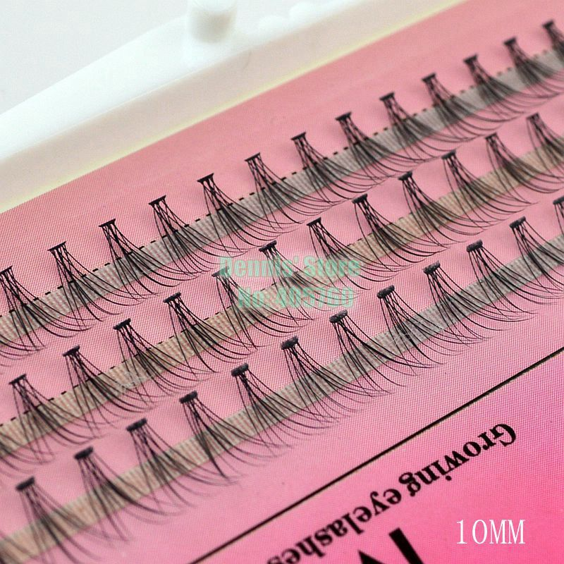 Wholesale 8-10-12mm 60 Knot 10 Hair Korea Mink Soft Black Individual Eye Lash Cluster False Eyelashes Extension DIY Makeup Set