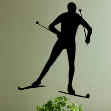 Ski Skating Wall Sticker ice-sports Sports Skate Scooter Wall Decal Home Decor(China)