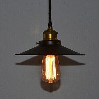 1 Light,E27,60W Edison Unique Retro Loft Style Vintage Industrial Pendant Lighting Lamp,Hanglamp Black Iron Painting<br>