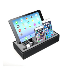 High Quality 4 in 1 Multi Device Organizer Dock Charging Statio For iPhone Watch For iPad Charging Dock