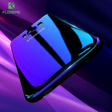 FLOVEME Plating Blu-Ray Gradient Cases For Galaxy Note 8 7 Edge Case Ultra Thin Hard PC Cover For Galaxy S8 S8 Plus S7 S6 Edge