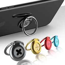 Baseus Phone Ring Holder For iPhone Samsung Huawei Phone Desktop Stand 360 Finger Ring Phone Holder Fit For Magnetic Car Holder