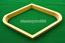 Pool Billiards Snooker Ball Rack Natural Wood Diamond 9-Ball Rhombus Snooker Accessories Free Shipping Wholesales(China)