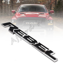 Car Styling Refitting Tailgate Nameplate ABS Rebel Decal Sticker Badge Emblem Universal for Car Motorcycle Dodge Ram 1500(China)