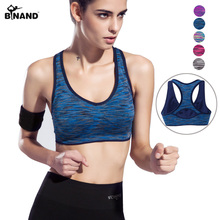 BINAND Wide Straps Seamless Sport Yoga Bra Tops Running Gym Workout Women Yoga Clothing Racerback Yoga Shirts Vest Bra Wireless