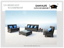 DYSF-D5606 Danyalife Luxury European Design Rattan Garden Sofa and Table Set(China)