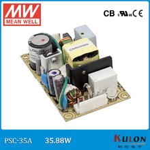 Original Meanwell PSC-35A 35W single output 12~15V 0~2.6A security power supply PCB type with battery charger(UPS function)