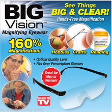 2017 New Big Vision plastic glasses 250 /160 degrees Magnifying Eyewear That Makes Everything Bigger and Clearer(China)