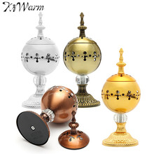 KiWarm 1PC Metal Ornaments 220V Electric Burning Incense Burners Censer For Home Office Room Decoration Crafts Gifts 4 Colors