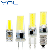 YNL Mini LED Lamp G4 G9 E14 AC/DC 12V 220V 3W 6W 9W COB LED G4 G9 Bulb Dimmable 360 Beam Angle Replace Halogen Chandelier Lights(China)