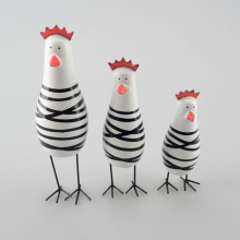 3pcs/lot Nodic Style Happy Little Chicken Family Set Wooden Chicken Craft Home Decoration Gift CH31109127(China)
