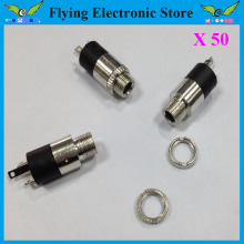 Free shipping 50PCS PJ-392 New 3.5mm Audio Jack,Laptop Headphone connector jack With screw thread
