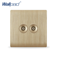Free Shipping, Wallpad Luxury Wall Switch Panel, Double TV Socket, C31 Series,  86*86mm, 10A, 110~250V