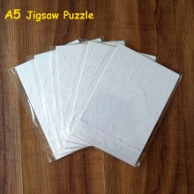 Free Shipping A5 Sublimation Blank Puzzle DIY Craft Jigsaw Puzzle Transfer Printing(China)