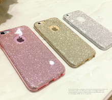 Crystal Soft Gel TPU For iPhone X 8 5 5S SE 6 6S 7 Plus Ultra Thin Glitter Bling Cute Candy cover case(China)