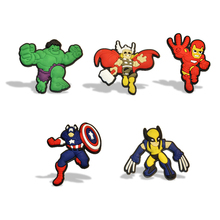5-11PCS Avengers Iron Man Captain America Thor Hulk Mixed Cartoon PVC Fridge Magnets Gifts Party Favor Fashion Jewelry Brooches(China)