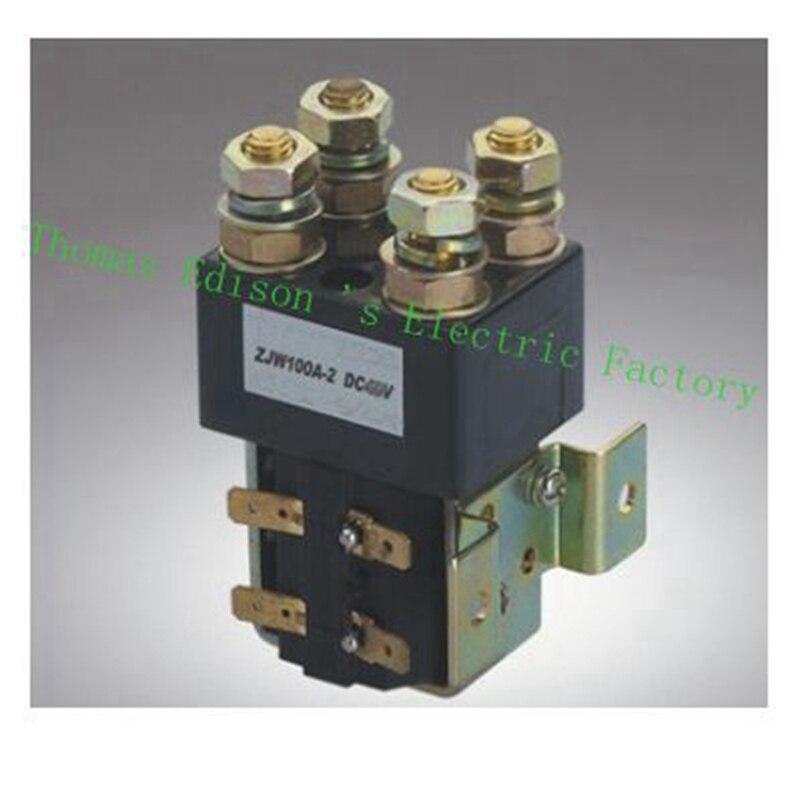 SW82 DC Contactor ZJW100A-2 for forklift handling drawing wehicle car PUMP MOTOR 12V 24V 36V 48V 60V 72V<br>
