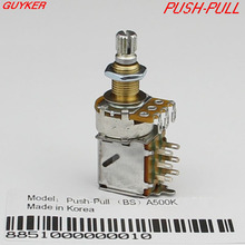 ALPHA copper shaft PUSH-PULL switch Guitar Bass Potentiometers volume and tone controls A250K B250K A500K B500K