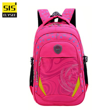 Fashion Brand Unique Design Teenager Backpack Waterproof Material Shoulder Bags Lare Capacity Children Decomoression School Bag