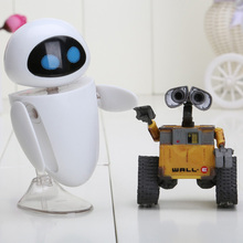 2 unids/lote 6 cm Robot Wall-e Wall-e y EVE Acción PVC Figure Collection Modelo Juguetes Muñecas
