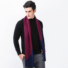 2017 New Men Boys Luxury Plaid Scarf Father Cashmere Warm Autumn Winter Scarves Male Work Outdoor 180CM Shawl Wrap Neckerchief