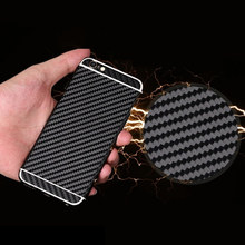 for Apple iPhone 5 5S SE 6 6S 6 Plus Luxury Carbon Fibre Stripe Full Body Skin Sticker Fashion DIY Cool Front Back Cover Film(China)