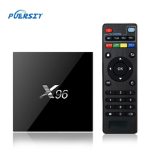 PUERSIT X96 TV BOX Amlogic S905X 64bits Android 6.0 Marshmallow Cortex A53 Quad Core 2G+16G 4K Set Top Box Wifi Media YouTube