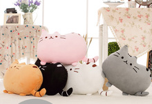 Lovely smile bad cat plush toys, cushion for leaning on, valentine's day gifts, Christmas gifts(China)