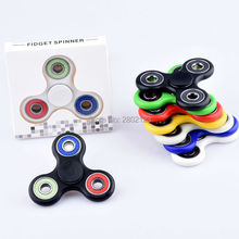 New Fidget Spinner ABS Finger Tri-Spinner Hand Anti-Stress Toys Various Colors for Choice with Retail Box Packaging